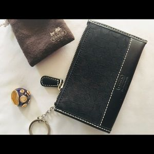 Used Coach keychain/cardholder & bubble ring sz 6